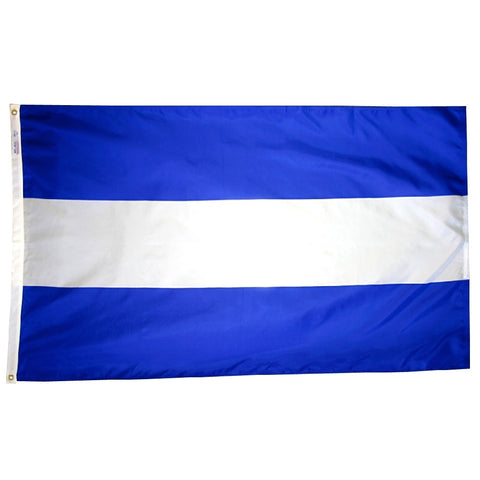 "El Salvador Courtesy Flag 12"" x 18"" - ColorFastFlags 