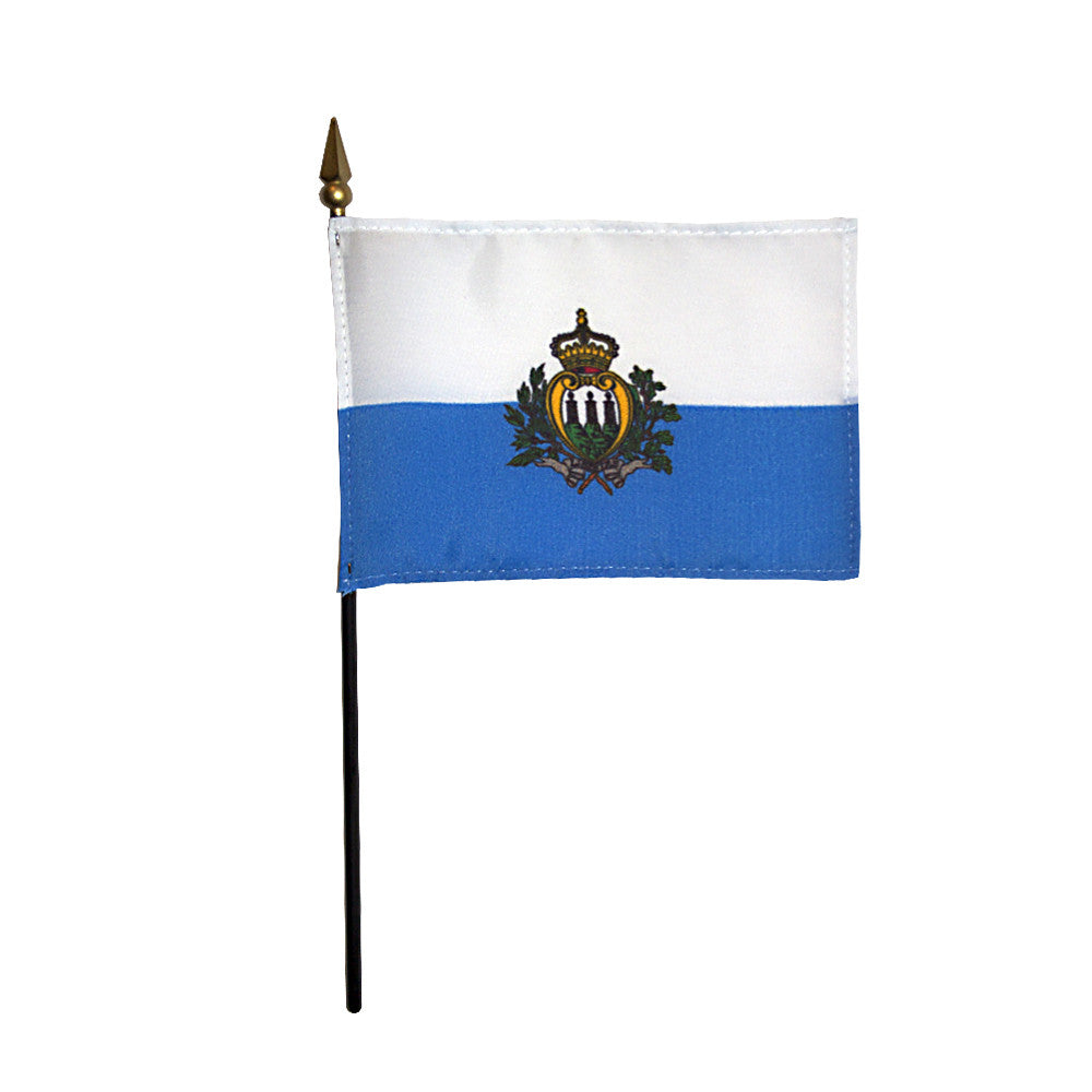 Miniature San Marino Flag - ColorFastFlags | All the flags you'll ever need!