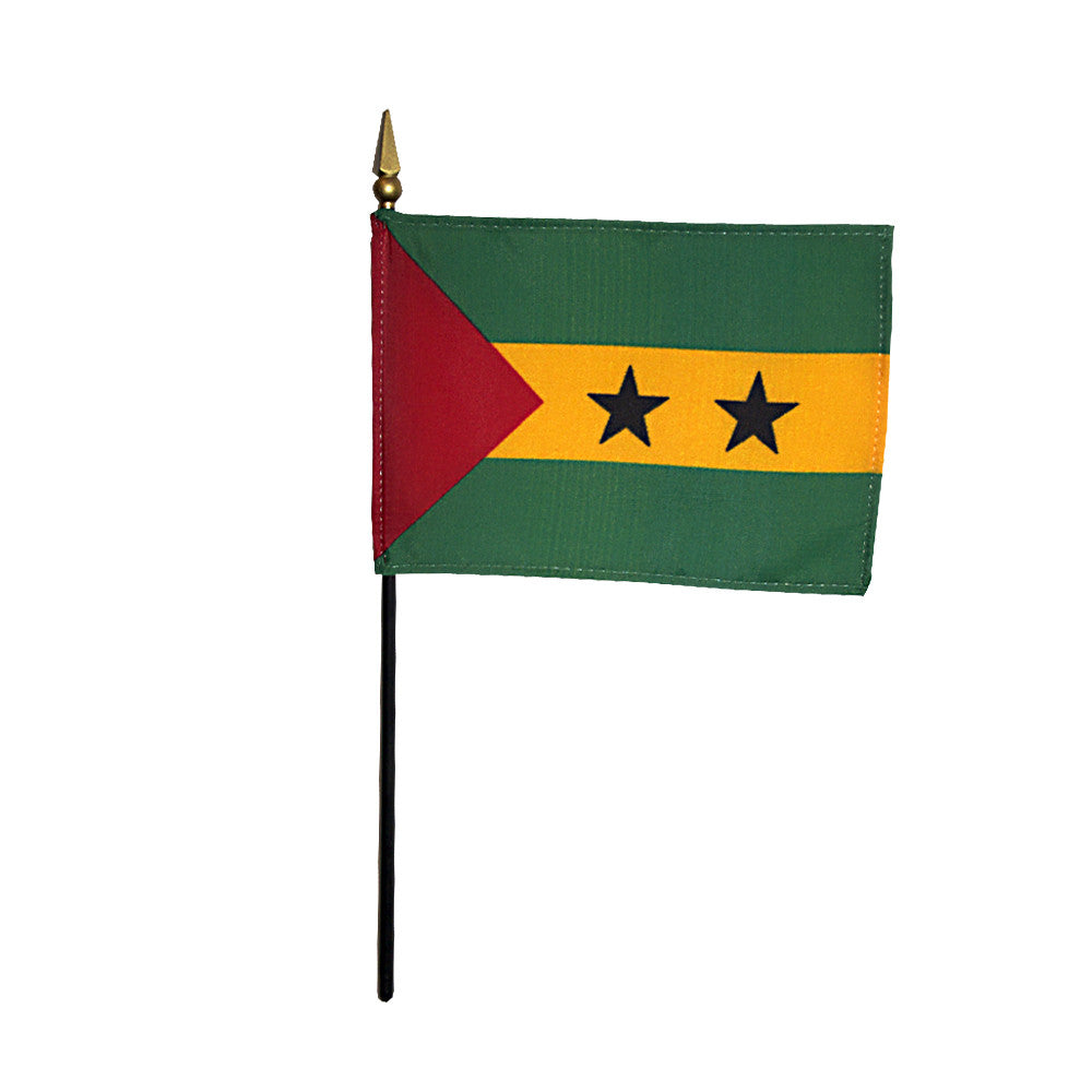 Miniature Sao Tome & Principe Flag - ColorFastFlags | All the flags you'll ever need!