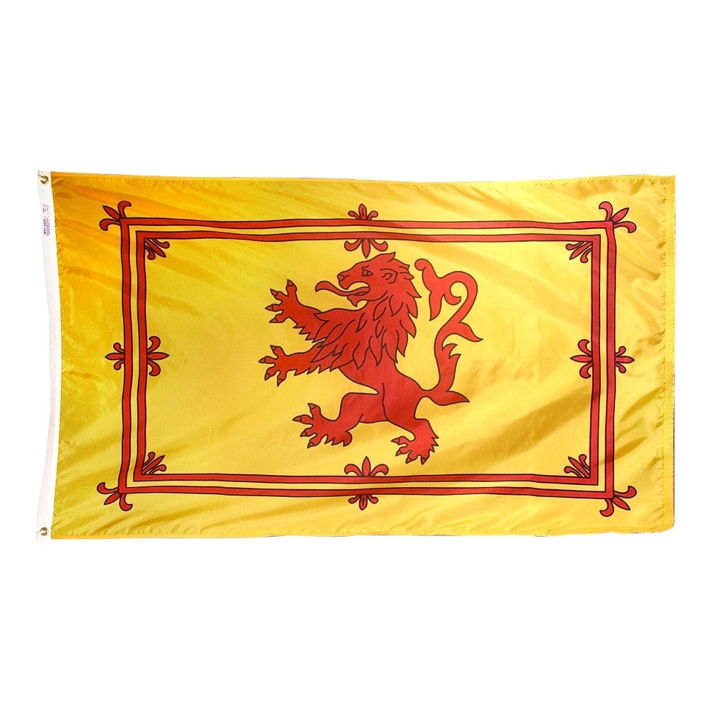 "Scot Rampant Lion Courtesy Flag 12"" x 18"" - ColorFastFlags 