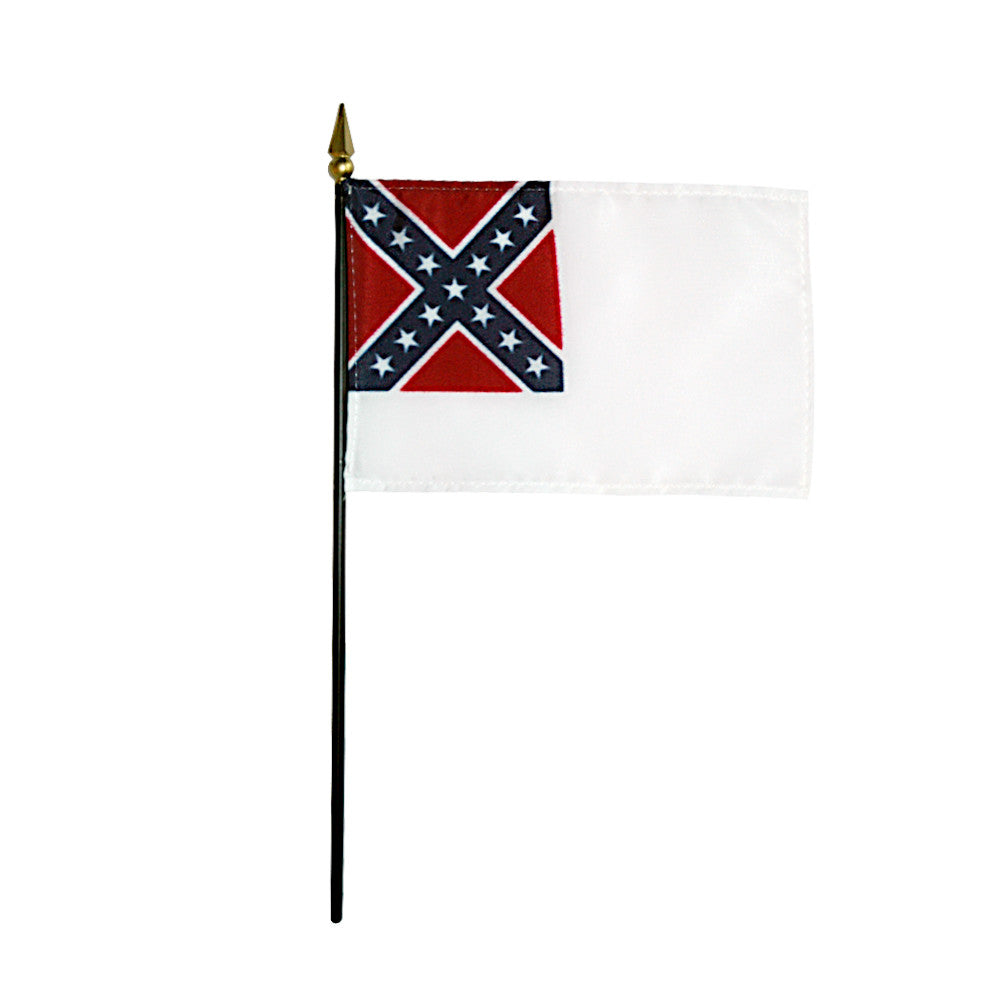 Miniature Second Confederate Flags - ColorFastFlags | All the flags you'll ever need!