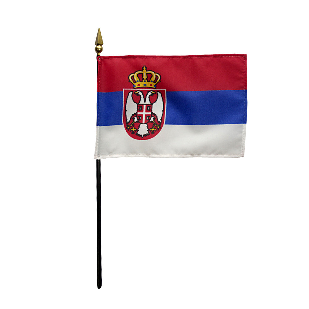 Miniature Serbia Flag - ColorFastFlags | All the flags you'll ever need!
