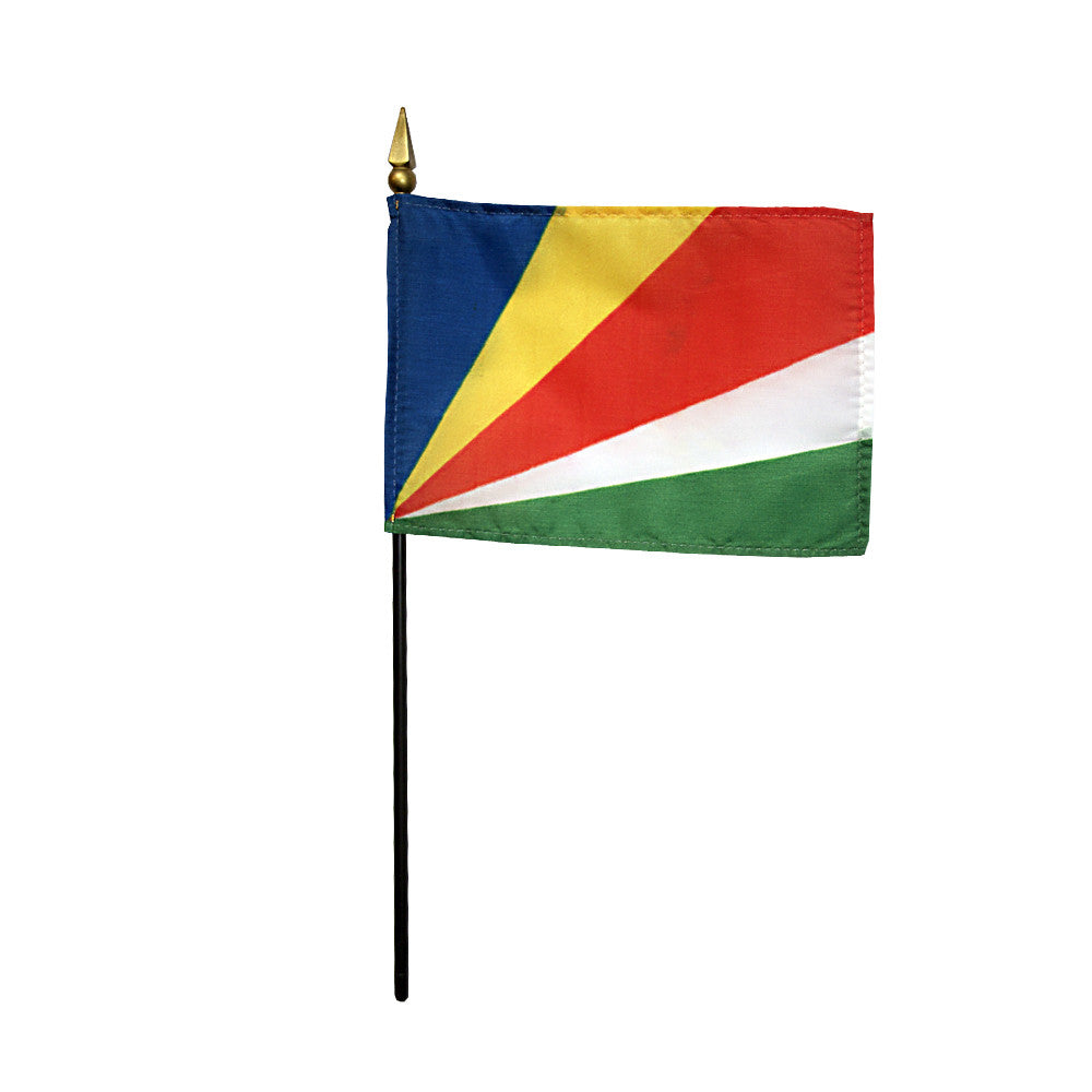 Miniature Seychelles Flag - ColorFastFlags | All the flags you'll ever need!