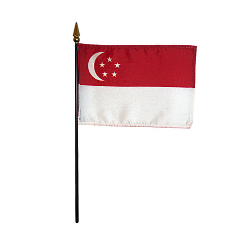 Miniature Singapore Flag - ColorFastFlags | All the flags you'll ever need!