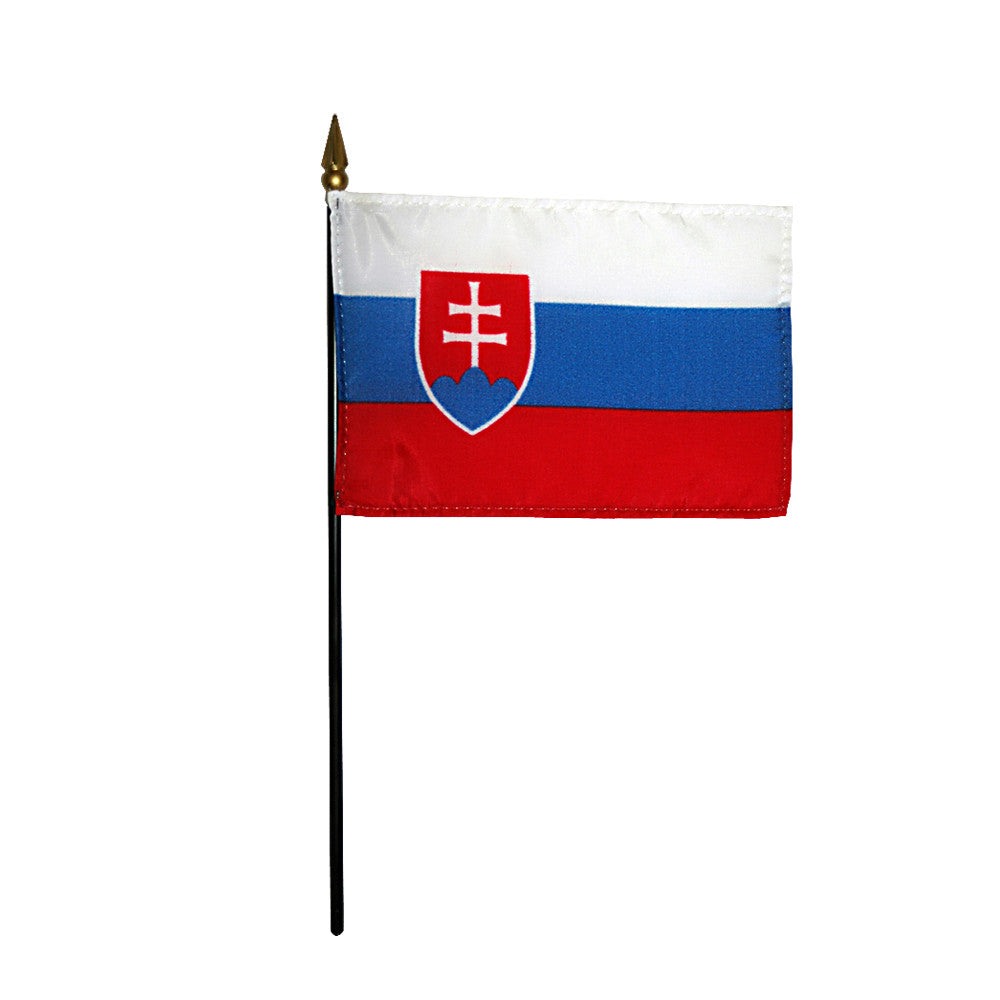 Miniature Slovak Republic Flag - ColorFastFlags | All the flags you'll ever need!