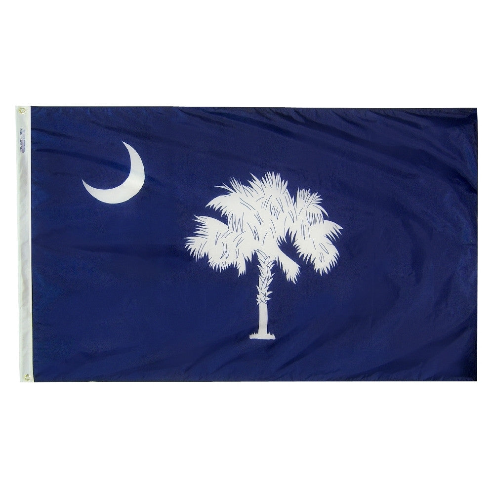 "South Carolina Courtesy Flag 12"" x 18"" - ColorFastFlags 