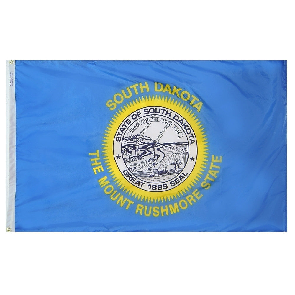 "South Dakota Courtesy Flag 12"" x 18"" - ColorFastFlags 