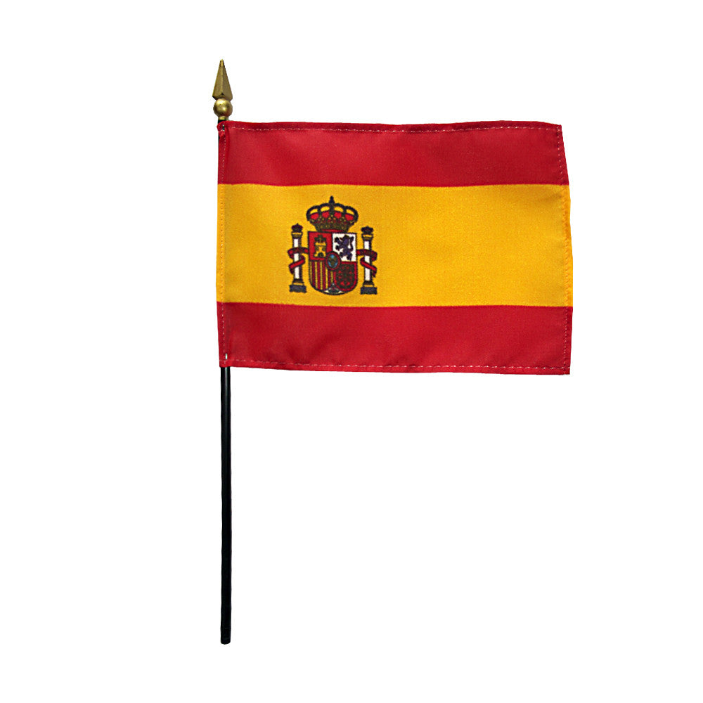 Miniature Spain Flag - ColorFastFlags | All the flags you'll ever need!