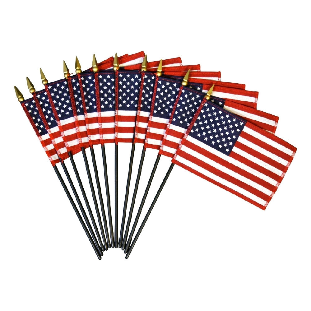 Miniature American Giveaway Flags with Balltop or Speartop - ColorFastFlags | All the flags you'll ever need!