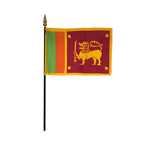 Miniature Sri Lanka Flag - ColorFastFlags | All the flags you'll ever need!