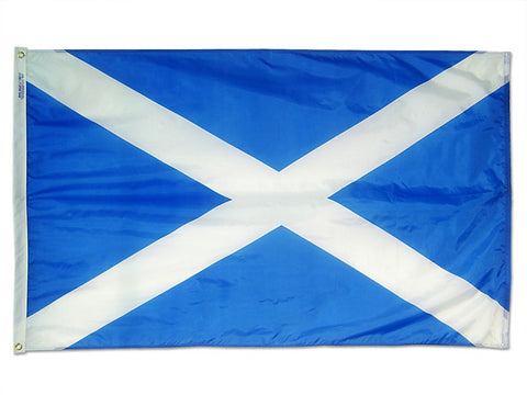 "St. Andrews Cross Courtesy Flag 12"" x 18"" - ColorFastFlags 