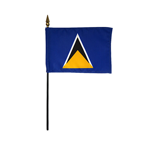 Miniature St. Lucia Flag - ColorFastFlags | All the flags you'll ever need!