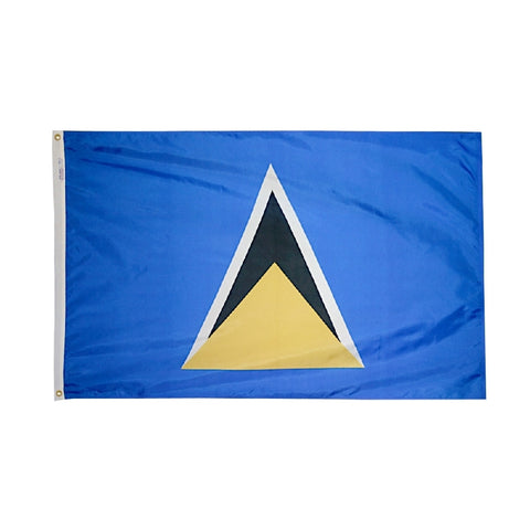 "St. Lucia Courtesy Flag 12"" x 18"" - ColorFastFlags 