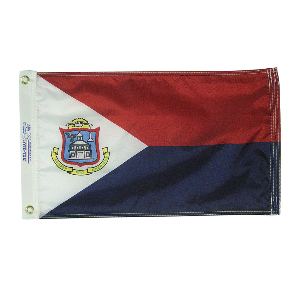 "St. Maarten Courtesy Flag 12"" x 18"" - ColorFastFlags 