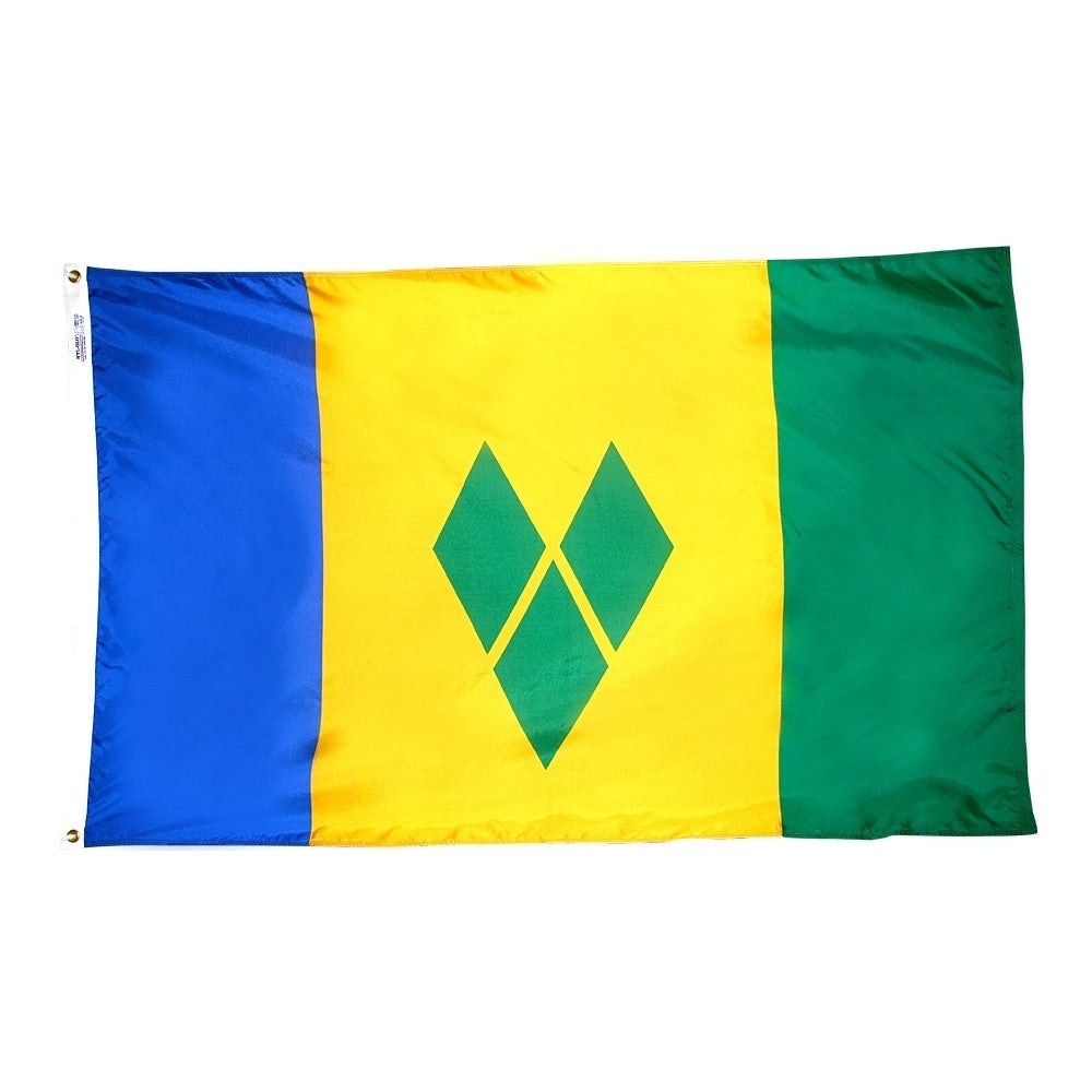 "St. Vincent Grenadines Courtesy Flag 12"" x 18"" - ColorFastFlags 