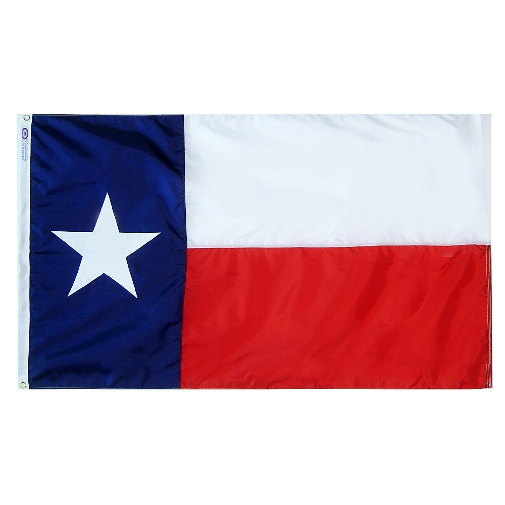"Texas Courtesy Flag 12"" x 18"" - ColorFastFlags 