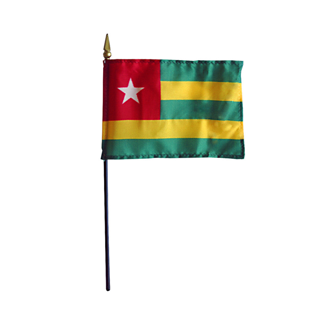 Miniature Togo Flag - ColorFastFlags | All the flags you'll ever need!