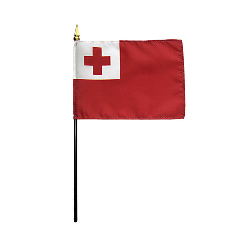 Miniature Tonga Flag - ColorFastFlags | All the flags you'll ever need!