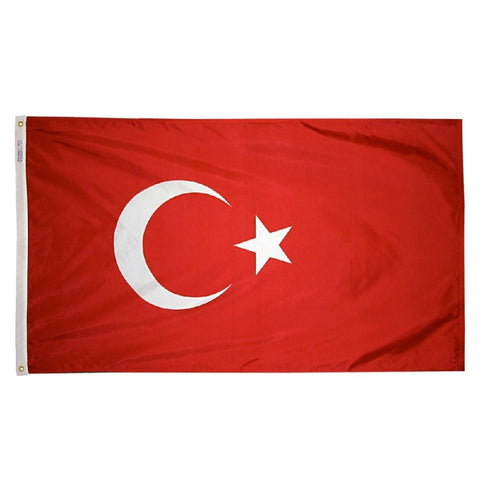 "Turkey Courtesy Flag 12"" x 18"""