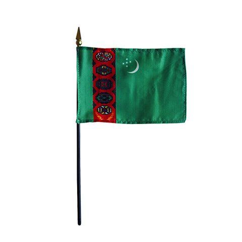 Miniature Turkmenistan Flag - ColorFastFlags | All the flags you'll ever need!