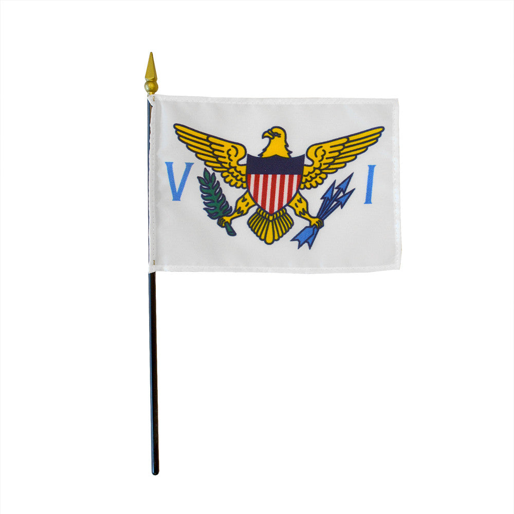 Miniature Flag - U.S. Virgin Islands - ColorFastFlags | All the flags you'll ever need!