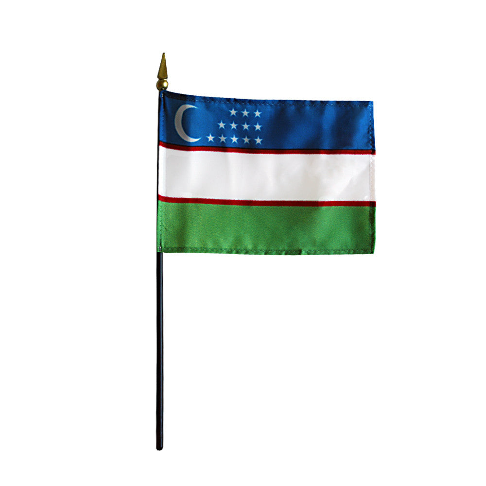 Miniature Uzbekistan Flag - ColorFastFlags | All the flags you'll ever need!