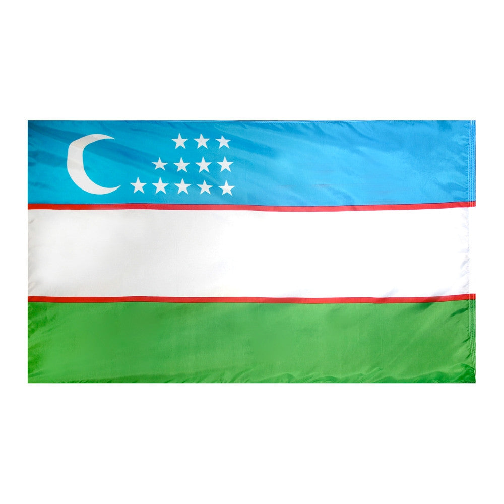 Uzbekistan Flag - ColorFastFlags | All the flags you'll ever need!