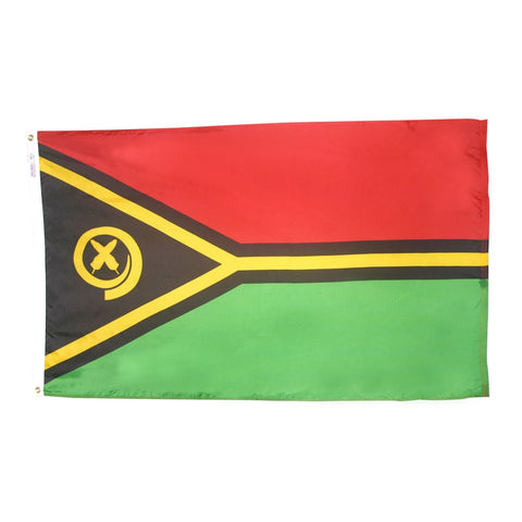 "Vanuatu Courtesy Flag 12"" x 18"" - ColorFastFlags 