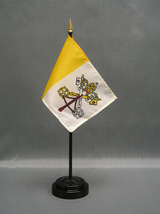 Miniature Vatican City (Papal) Flag - ColorFastFlags | All the flags you'll ever need!