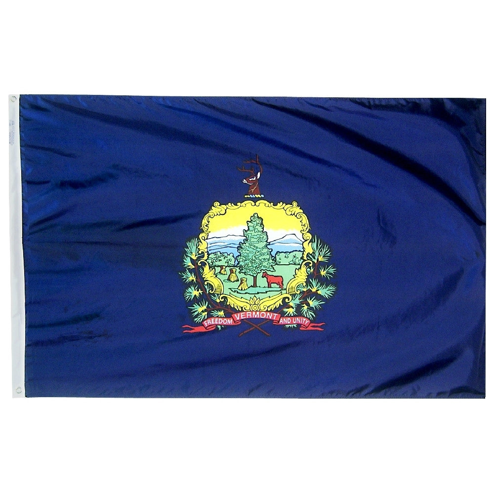 "Vermont Courtesy Flag 12"" x 18"" - ColorFastFlags 