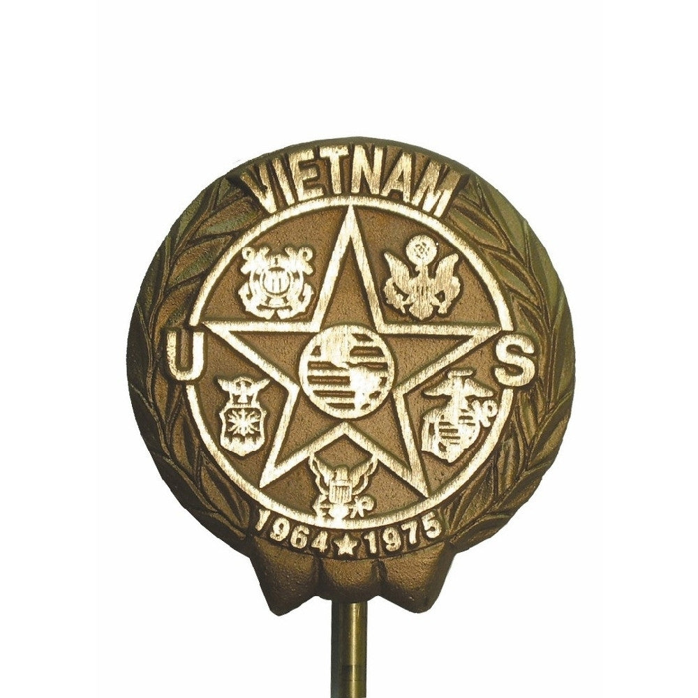 Bronze Grave Marker - Vietnam War - ColorFastFlags | All the flags you'll ever need!