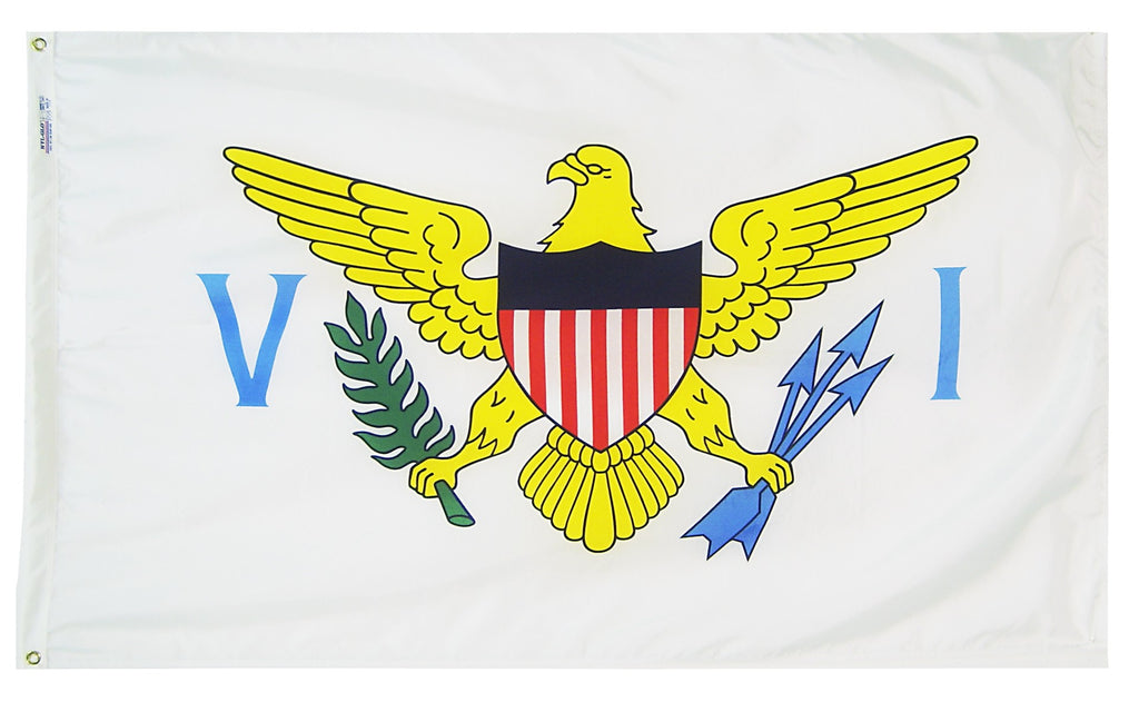 "U.S. Virgin Islands Courtesy Flag 12"" x 18"" - ColorFastFlags 