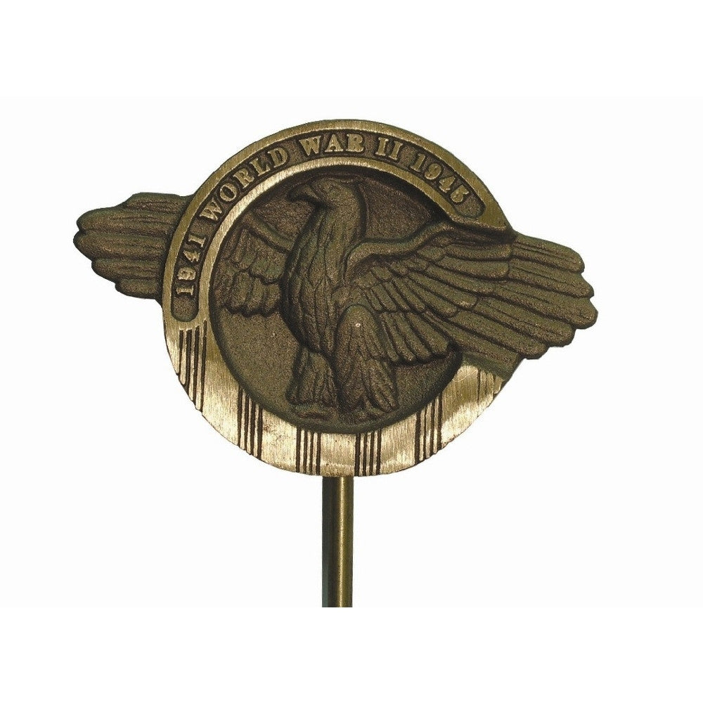 Bronze Grave Marker - WWII - ColorFastFlags | All the flags you'll ever need!
