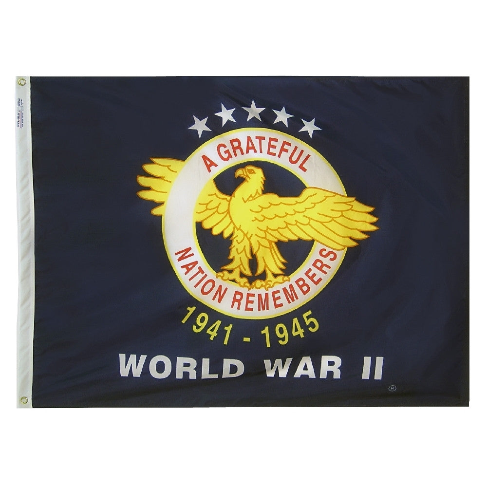 World War II Commemorative Flag - ColorFastFlags | All the flags you'll ever need!