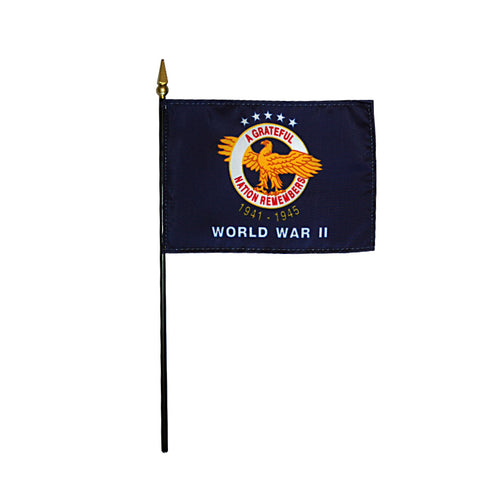 Miniature World War II Commemorative Flag - ColorFastFlags | All the flags you'll ever need!
