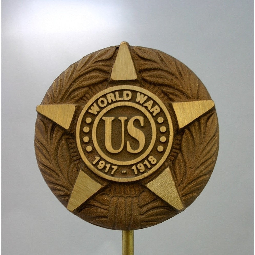 Bronze Grave Marker - WWI - ColorFastFlags | All the flags you'll ever need!