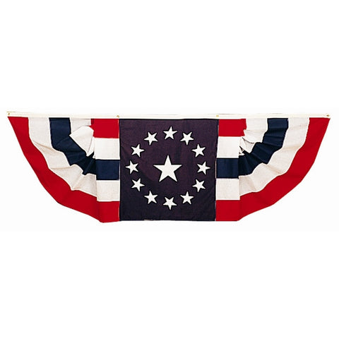 Patriotic Pleated Fans With Star Center - ColorFastFlags | All the flags you'll ever need!
