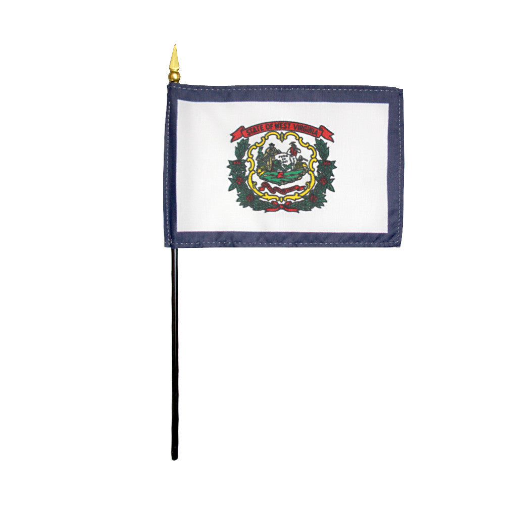 Miniature Flag - West Virginia - ColorFastFlags | All the flags you'll ever need!