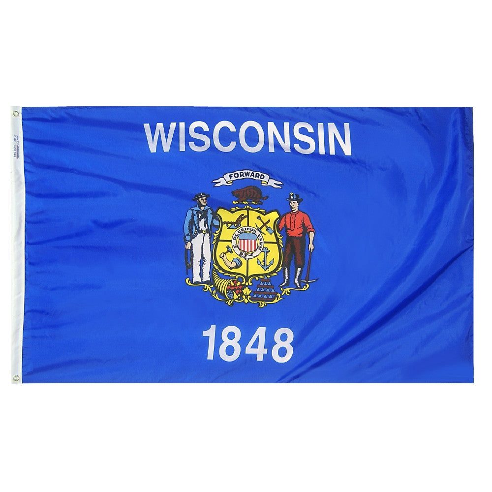 Wisconsin State Flags - ColorFastFlags | All the flags you'll ever need!