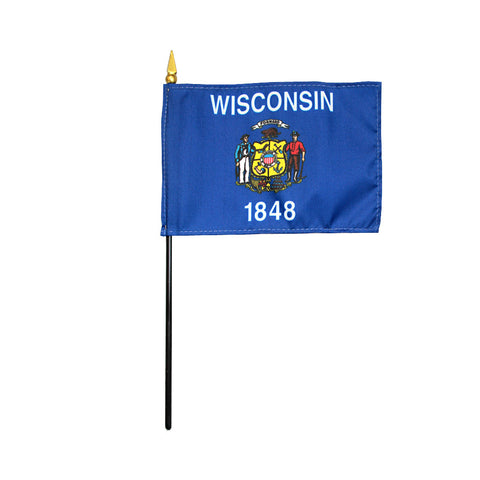 Miniature Flag - Wisconsin - ColorFastFlags | All the flags you'll ever need!