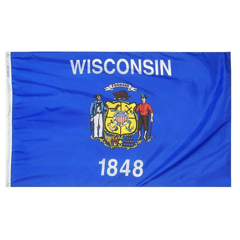Wisconsin Courtesy Flag - ColorFastFlags | All the flags you'll ever need!