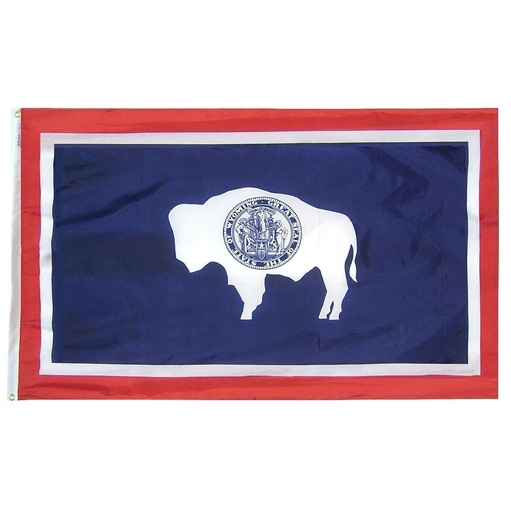 "Wyoming Courtesy Flag 12"" x 18"" - ColorFastFlags 