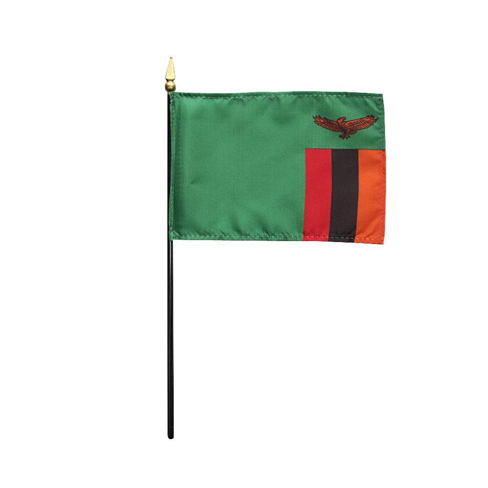 Miniature Zambia Flag - ColorFastFlags | All the flags you'll ever need!