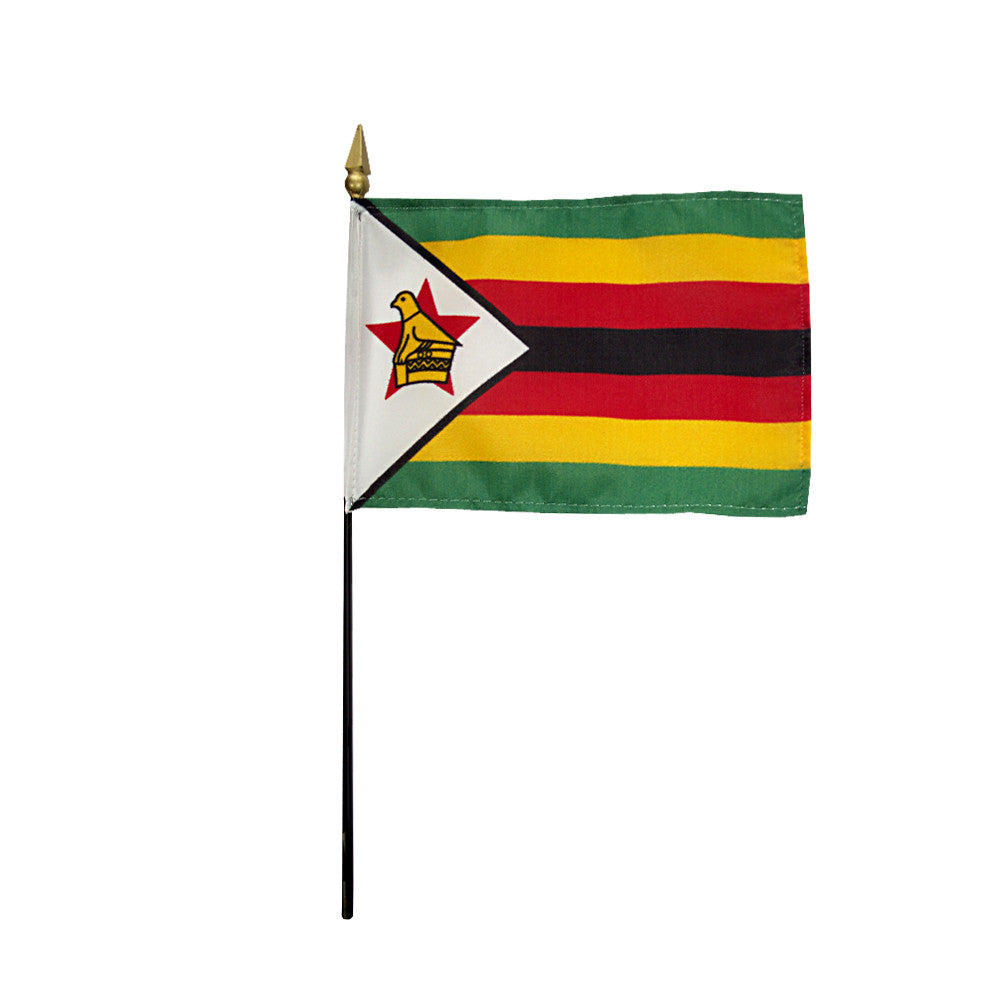 Miniature Zimbabwe Flag - ColorFastFlags | All the flags you'll ever need!