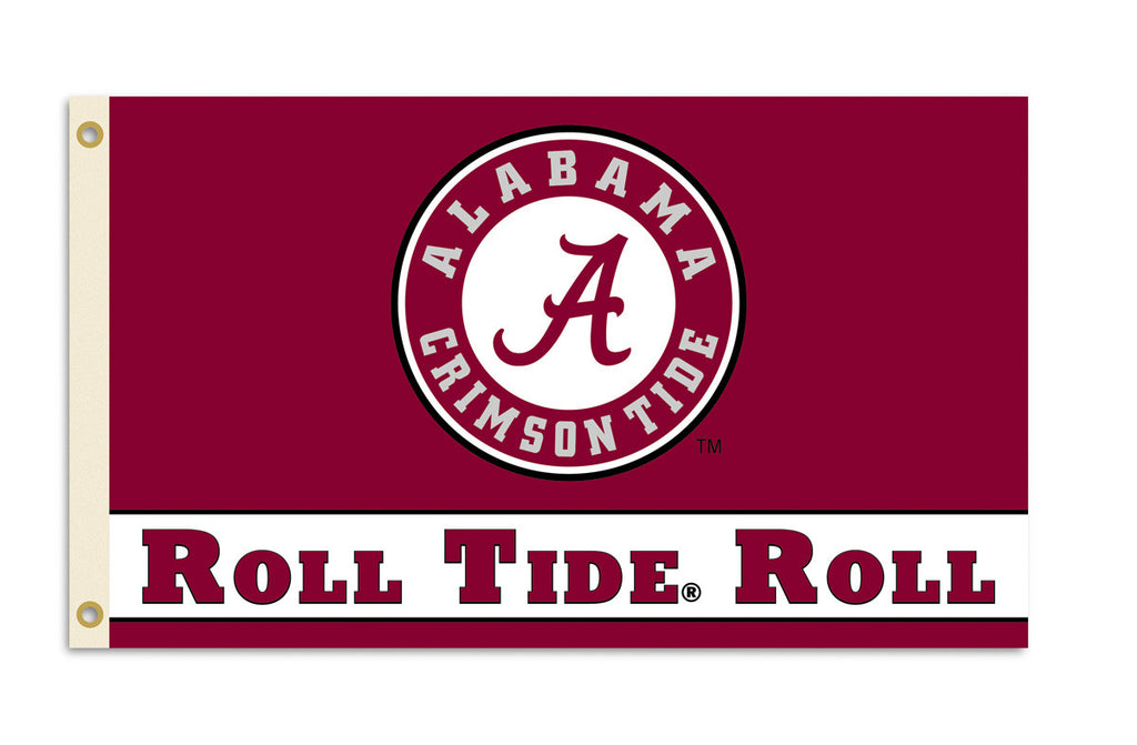 Officially Licensed Alabama Crimson Tide 3' x 5' Flags - ColorFastFlags | All the flags you'll ever need!
