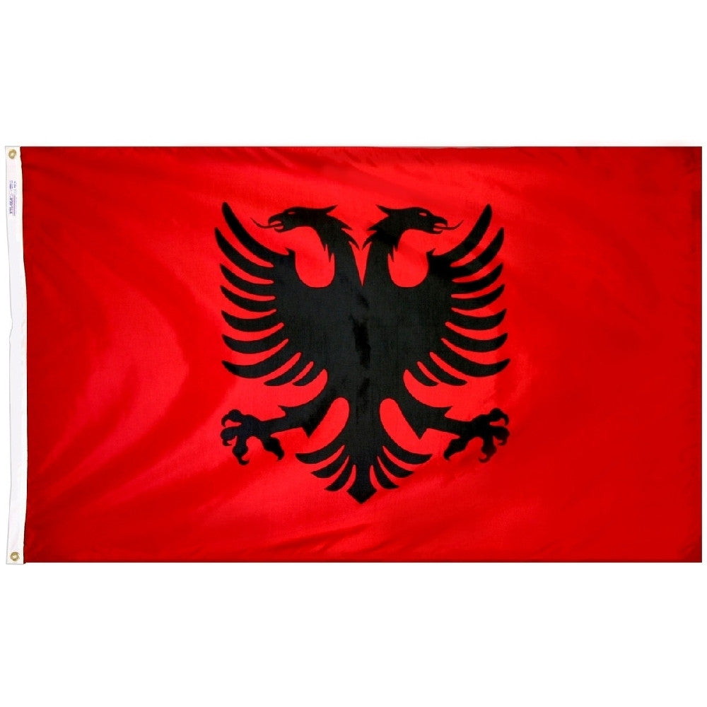 Albania Flag - ColorFastFlags | All the flags you'll ever need!