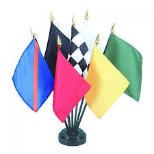 Miniature Auto Racing Set - ColorFastFlags | All the flags you'll ever need!