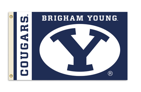 Officially Licensed Brigham Young Cougars 3' x 5' Flags - ColorFastFlags | All the flags you'll ever need!