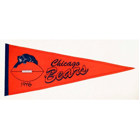 "Chicago Bears Felt Pennant 13"" x 32"" - ColorFastFlags 