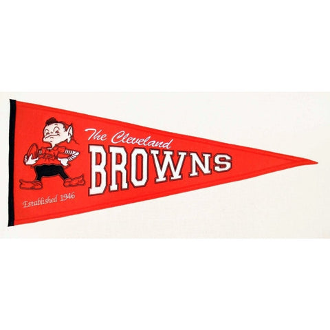 "Cleveland Browns Felt Pennant 13"" x 32"" - ColorFastFlags 